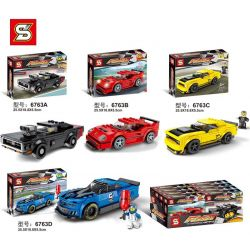Sheng Yuan 6763 Lepin 28020 28021 28023 (NOT Lego Speed Champions 75890 75891 75893 Ferrari F40 Competizione Chevrolet Camaro Zl1 Race Car 2018 Dodge Challenger Srt Demon And 1970 Dodge Charger R/t )