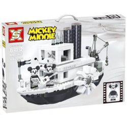 Bela 11396 Lari 11396 DINGGAO DG026 LEJI LJ99018 99018 LEPIN 16062 NUOGAO N16062 16062 SX 3025 6011 Xếp hình kiểu Lego IDEAS Steamboat Willie Vehicle Boat Willy Tàu Hơi Nước Của Chuột Mickey 751 khối