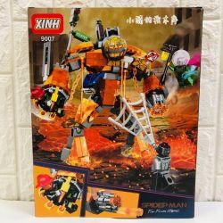 NOT Lego MARVEL SUPER HEROES 76128 Molten Man Battle, LARI 11313 PRCK 64020 XINH 9007 Xếp hình Chiến đấu chống quái vật nham thạch 294 khối