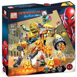 LARI 11313 PRCK 64020 XINH 9007 Xếp hình kiểu Lego MARVEL SUPER HEROES Molten Man Battle Spider-Man Hero Expedition Battle Of Fire Chiến đấu Chống Quái Vật Nham Thạch 294 khối