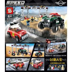 Lepin 28024 Sheng Yuan 6762 SY6762 (NOT Lego Speed Champions 75894 1967 Mini Cooper S Rally And 2018 Mini John Cooper Works Buggy ) Xếp hình Xe Đua 481 khối