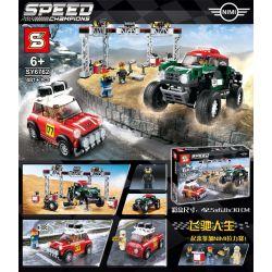 Bela 11257 Lari 11257 LEPIN 28024 SHENG YUAN SY 5005 5007 SY6762 6762 Xếp hình kiểu Lego SPEED CHAMPIONS 1967 Mini Cooper S Rally And 2018 MINI John Cooper Works Buggy 1967 Mini Cooper S Rally With 20