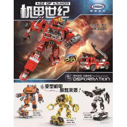XINGBAO XB-20002 20002 XB20002 Xếp hình kiểu Lego TRANSFORMERS Age Of Armor Machine Century Police Machine ARO 2 In 1 Cảnh Sát Máy 2 Trong 1 779 khối