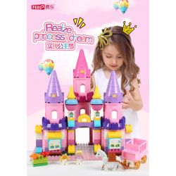 Feelo 1610 Xếp hình kiểu LEGO Duplo Cinderella's castle lâu đài của nàng lọ lem 109 khối