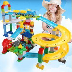 Feelo 1660D Xếp hình kiểu LEGO Duplo roller coaster tàu lượn siêu tốc 200 khối