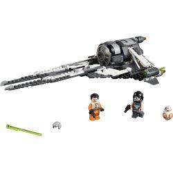 NOT Lego STAR WARS 75242 Black Ace TIE Interceptor, LARI 11421 LEPIN 05154 Xếp hình Bộ đánh chặn TIE của quân Ace đen 396 khối