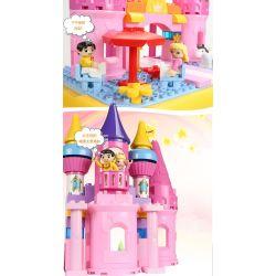 Feelo 1617 Xếp hình kiểu LEGO Duplo Castle of princess sleeping in the forest lâu đài của công chúa ngủ trong rừng 67 khối