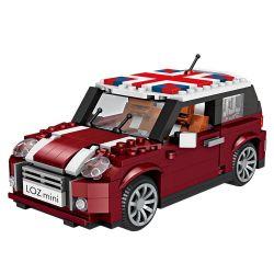 Lno 1111 Car Car British Mini Cooper Xếp hình Xe Mini Cooper Của Anh 500 khối