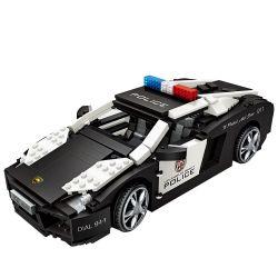 Loz 1113 (NOT Lego Nanoblock Diamond Block Police Car ) Xếp hình Mô Hình Xe Cảnh Sát 1003 khối