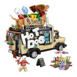 Loz 1116 (NOT Lego Car Hot Dog Car Model ) Xếp hình Mô Hình Xe Bán Xúc Xích 1317 khối