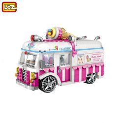 Loz 1112 (NOT Lego Car Ice Cream Car Model ) Xếp hình Mô Hình Xe Kem 1244 khối