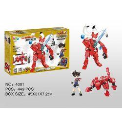 Qizhile 4001 (NOT Lego Creator 3 in 1 Spirit Beast Red ) Xếp hình Linh Thú Đỏ 391 khối