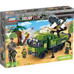 GUDI 8035 Xếp hình kiểu Lego TIGER HUNT Tiger Hunt:Doug Air-defense Missile Vehicles xe đặc chủng được gắn rada và tên lửa phòng không 385 khối