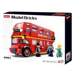 SLUBAN M38-B0708 B0708 0708 M38B0708 38-B0708 Xếp hình kiểu Lego RACERS Model Bricks Stomach Red London Bus Xe Buýt Luân Đôn Màu đỏ 382 khối