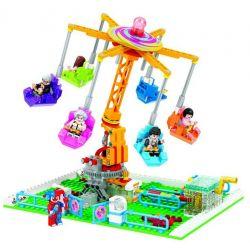 Winner 7044 Xếp hình kiểu Lego City Modern Paradise High-altitude Flying Chair đu Quay đảo đứng 377 khối