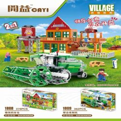 CAYI 1808 Xếp hình kiểu Lego CITY Village Nhà kho hạnh phúc 378 khối