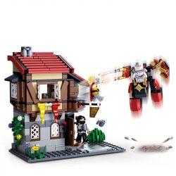 SLUBAN M38-B0618 B0618 0618 M38B0618 38-B0618 Xếp hình kiểu Lego LEGEND WARRIORS Assassin Legend Pub Starry Cuộc Chiến Khốc Liệt Trong Quán Rượu 376 khối
