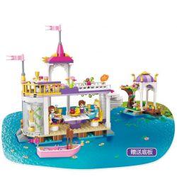 Enlighten 2607 Qman 2607 Xếp hình kiểu Lego PRINECESS LEAH Prinecess Leah Lakeside Party Princess Lay Wonderland Lake Garden Giấc Mơ Công Chúa Về Bữa Tiệc Bên Vườn Hồ Wonderland 358 khối