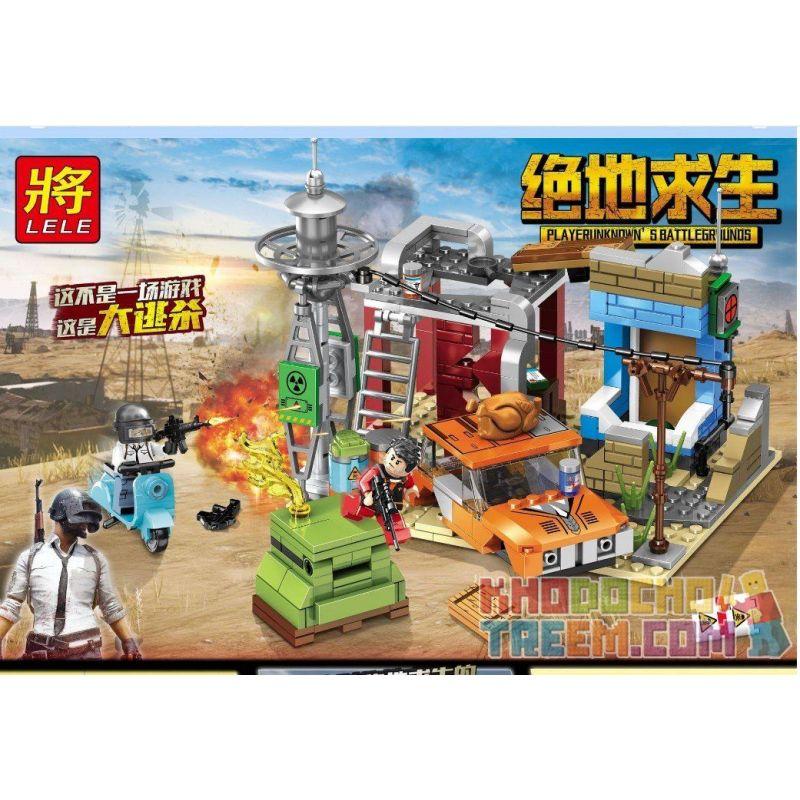LELE 36047 Xếp hình kiểu Lego PUBG BATTLEGROUNDS Jedi Survival Scenes Cảnh Chiến đấu Sinh Tồn 355 khối