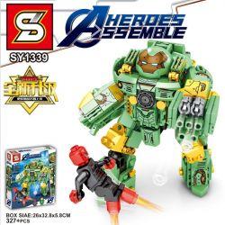 SHENG YUAN SY SY1339 1339 Xếp hình kiểu Lego SUPER HEROES Anti-Hulk Mech MK37 372 khối