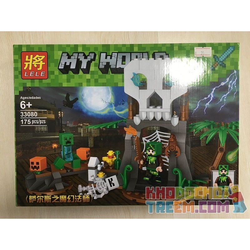 LELE 33080 33080-1 33080-2 Xếp hình kiểu Lego MINECRAFT MY WORLD Magic Magic Magic Master Of Sals Cánh Cửa Tử Thần gồm 2 hộp nhỏ 366 khối