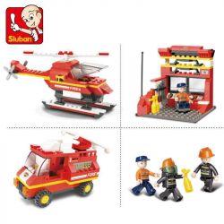 SLUBAN M38-B0225 B0225 0225 M38B0225 38-B0225 Xếp hình kiểu Lego FIRE RESCURE Urgent Dispatch Công Văn Khẩn Cấp 371 khối
