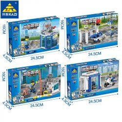 Kazi Gao Bo Le Gbl Bozhi KY67254 (NOT Lego Police City Police ) Xếp hình Cảnh Sát Thành Phố: gồm 4 hộp nhỏ 365 khối
