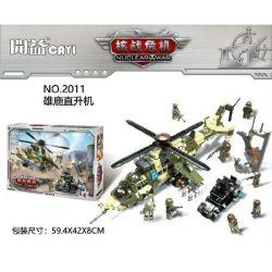 CAYI 2011 Xếp hình kiểu Lego NUCLEAR WAR Nuclear War:Mil Mi-24 Hind trực thăng quân sự và xe chiến đấu hạt nhân 891 khối