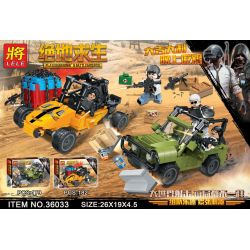 LELE 36033 36033-1 36033-2 Xếp hình kiểu Lego PUBG BATTLEGROUNDS Jedi Survival Chase Săn Bắt gồm 2 hộp nhỏ 361 khối