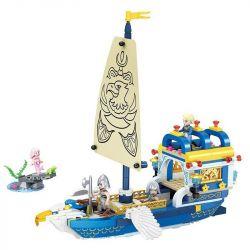Winner 5010 Xếp hình kiểu Lego MERMAID Wei Mei Fish Flying Eagle Ship Du Thuyền Hoàng Gia Của Hoàng Tử 361 khối