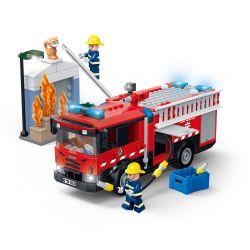 Gudi 9222 (NOT Lego Fire rescure Emergency Fire Truck ) Xếp hình Xe Cứu Hỏa Khẩn Cấp 354 khối