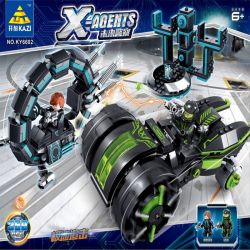 Kazi KY6602 6602 Xếp hình kiểu Lego X AGENTS X-Agents Future Police Pursue Rượt đuổi Tốc độ 359 khối