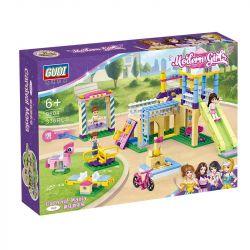 GUDI 9604 Xếp hình kiểu Lego MODERN GIRLS Modern Girls Carnival Mania Crazy Playground Sân Chơi Gồm Cầu Trượt, đu Quay, Xích đu.... 336 khối