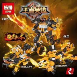 LEPIN 03077 Xếp hình kiểu Lego KING OF GLORY HEGEMONY King Hero Zhao Yun Three-change Bath Thunder Leopard Thunder Triệu Vân Tam Biến Báo Sấm Tắm Thần Sấm 334 khối