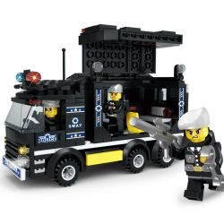 LE DI PIN 27010 Xếp hình kiểu Lego SWAT SPECIAL FORCE Van Xe thùng của lực lượng cảnh sát đặc biệt 338 khối
