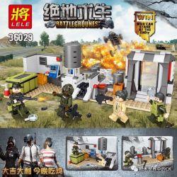LELE 36029 36029-1 36029-2 Xếp hình kiểu Lego PUBG BATTLEGROUNDS Battlegrounes Jedi Survival Base Site Edition 2 Căn Cứ Quân Sự gồm 2 hộp nhỏ 342 khối