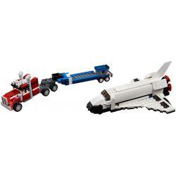 Decool 3140 Jisi 3140 XINH 5506 Xếp hình kiểu Lego CREATOR Shuttle Transporter Three In One Space Shuttle Vận Chuyển Con Thoi 341 khối