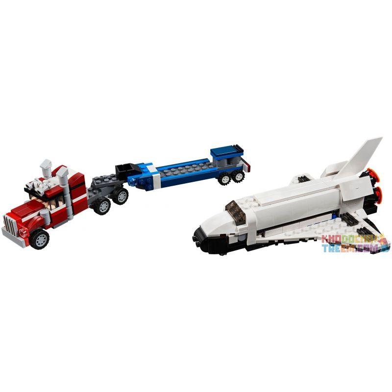 NOT Lego CREATOR 31091 Shuttle Transporter, CAYI 5506 Decool 3140 Jisi 3140 XINH 5506 Xếp hình Vận chuyển con thoi 341 khối