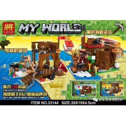 LELE 33144 33144-1 33144-2 Xếp hình kiểu Lego MINECRAFT MY WORLD Pirate Camp 2 Trại Hải Tặc 2 gồm 2 hộp nhỏ 334 khối