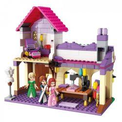 Enlighten 2606 Qman 2606 Xếp hình kiểu Lego PRINECESS LEAH Prinecess Leah Genius Tailor's Princess Lay Skillful Dress Store Tiệm May 340 khối