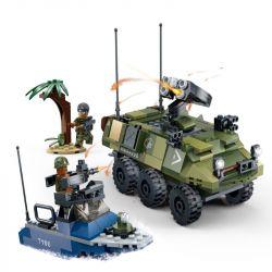 GUDI 8033 Xếp hình kiểu Lego TIGER HUNT Tiger Hunt Beach Invasion Hunting Take The Laundry Trận Chiến Của Lính Thủy đánh Bộ 340 khối
