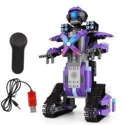 MOULDKING 13003 Xếp hình kiểu Lego WALKING BRICK Smart Build Creative Play Yuxing Team Filled Warrior Purple M3 Intelligent Robot Assembly Remote Control Rô Bốt Chiến đâu Thông Minh điều Khiển Từ Xa 3