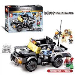 SEMBO 102347 Xếp hình kiểu Lego SWAT SPECIAL FORCE Black Eagle Encircle Terrorist Base Bao Vây Và Trấn áp Các Thành Trì Khủng Bố 339 khối