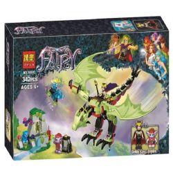 Bela 10695 Lari 10695 Xếp hình kiểu Lego ELVES The Goblin King's Evil Dragon Elf Elf Blame The King's Bad Dragon Ác Long Của Vua Yêu Tinh 339 khối
