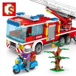 SEMBO 603040 Xếp hình kiểu Lego FIRE RESCURE Fire Frontline Fire Front Line Fire-fighting Ladder Xe Cứu Hỏa Có Thang 2 330 khối