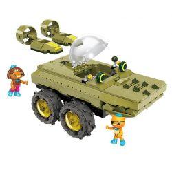 Enlighten 3713 Qman 3713 Xếp hình kiểu Lego OCTONAUTS Seabed Small Column Show Crocodileboat Xe Tăng Cá Sấu 330 khối
