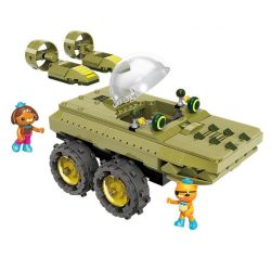 Enlighten 3713 (NOT Lego Octonauts Submarine Small Column: Alligator ) Xếp hình Xe Tăng Cá Sấu 330 khối