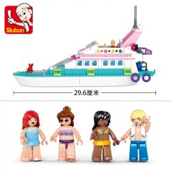 SLUBAN M38-B0609 B0609 0609 M38B0609 38-B0609 Xếp hình kiểu Lego GIRL'S DREAM Luxury Tacht Pink Dream Dolphin Bay Luxury Boat Du Thuyền 328 khối
