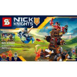 SHENG YUAN SY SY800 Xếp hình kiểu Lego NEXO KNIGHTS General Magmar's Siege Machine Of Doom The End Of The Magic Will Siege Động Cơ Vây Hãm Ngày Tận Thế Của Đô đốc Balrog 327 khối