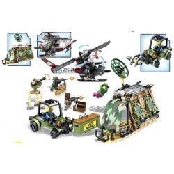 Sembo 11706 (NOT Lego Black Gold Attacking The Desert Supply Station ) Xếp hình Tấn Công Kho Quân Lương Ở Sa Mạc 325 khối